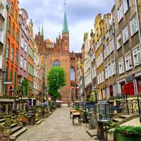 Straatje in Gdansk
