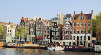 Grachtenpanden in Amsterdam