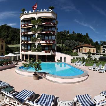 Hotel Delfino Lugano - buitenaanzicht Hotel Delfino