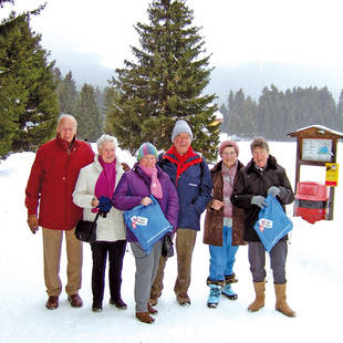 Gasten in de sneeuw