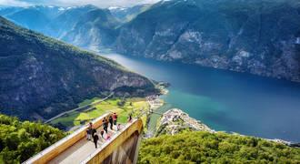 Stegastein uitzichtpunt Sognefjord
