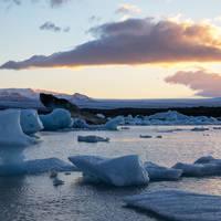 Fjallsarlon gletsjerlagune (bij Jokulsarlon)