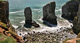 Zuid Wales - Stackpole Rocks