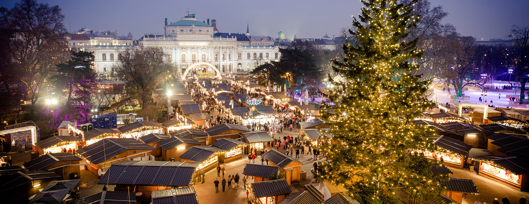 Kerstmarkt in Wenen