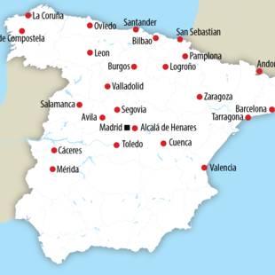 Kaartje Spanje