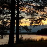 Orsa zonsondergang
