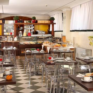 Ontbijtruimte Hotel Alessandrino
