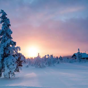 Fins Lapland landschap