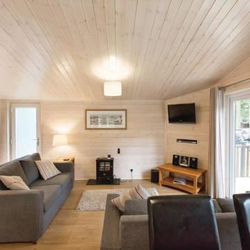 Voorbeeld woonkamer 3-kamerwoning Landal Darwin Forest
