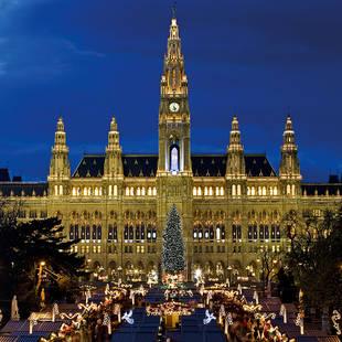 Kerstmarkt Rathaus Wenen