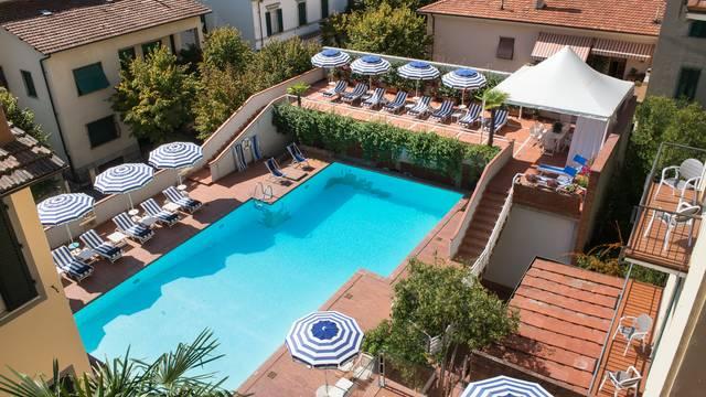 Bovenaanzicht Grand Hotel Francia & Quirinale