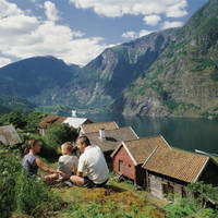 Familie in Aurland