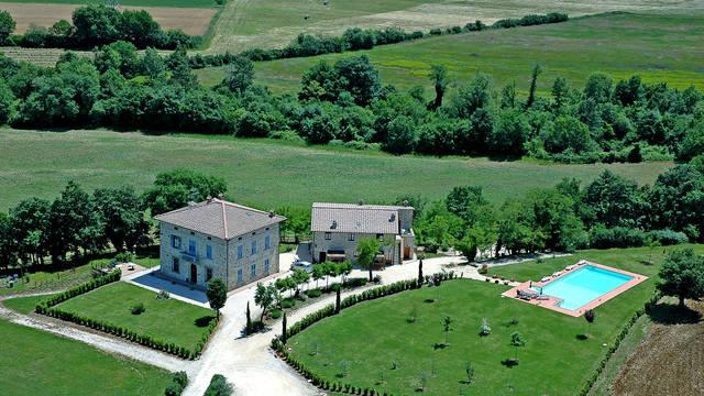 Bovenaanzicht Appartementen Borgo Il Villino