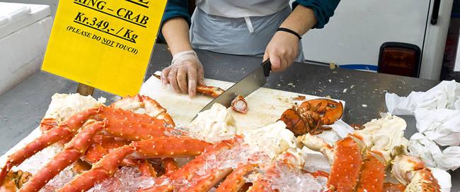Bergen - Vismarkt King Crab