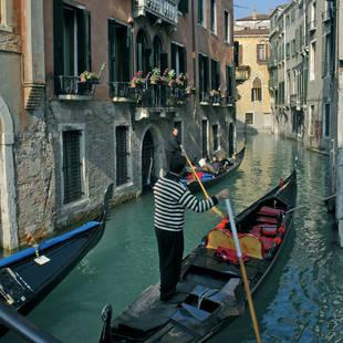 sfeer boot Venetië