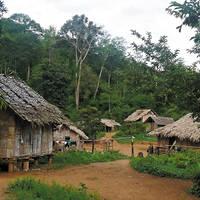 dorp van de Karen bergstam