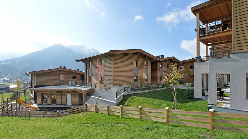 Buitenaanzicht Resort Tirol am Sonnenplateau