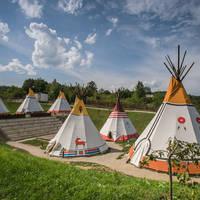 Kamp Turist voorbeeld Tipi tent