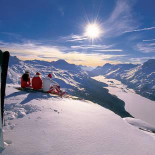 Skiers en snowboarders