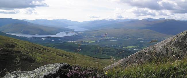 Uitzicht vanaf Ben Nevis in Schotland