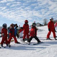 Bij de skischool