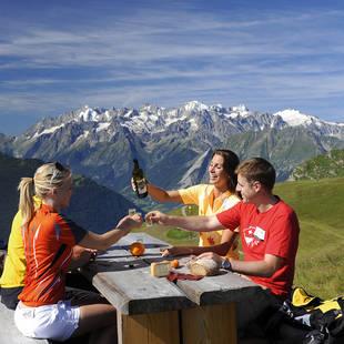 Picknick met Mont Blanc op achtergrond