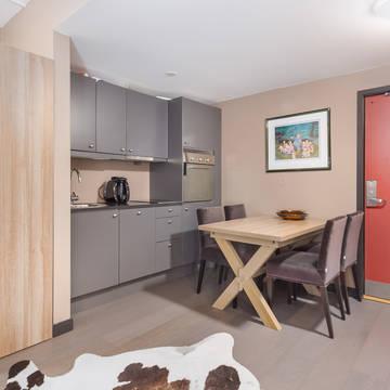 2-kamerappartement keuken voorbeeld Appartementen Highland Lodge
