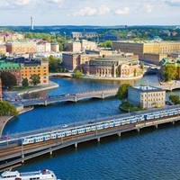 Stockholm met trein en water