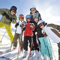 Ski gezin