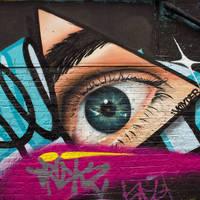 Street art in Shoreditch, op ca. 10 minuten loopafstand van het hotel!
