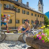 Op de fiets in St. Moritz
