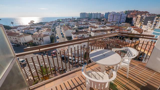 Balkon-uitzicht Appartementen AR Familly Europa Sun