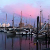 Aarhus zonsondergang