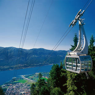 Gondel Locarno, Meer van Lugano, Tessin/Tesino, Zwitserland