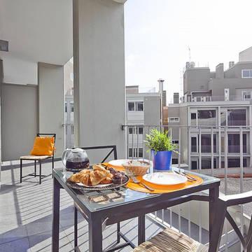 Balkon Appartementen Charmsuites Paral-lel