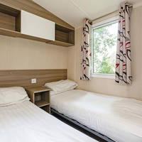 Voorbeeld slaapkamer 3-kamerstacaravan
