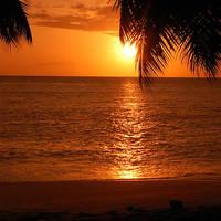 Sunset Anse Soleil - Seychellen