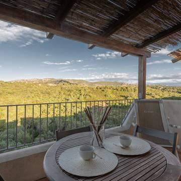Voorbeeld balkon 2-kamerappartement Residence Ea Bianca