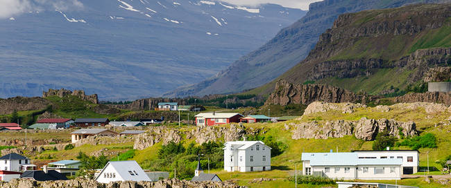 Oostfjorden landschap