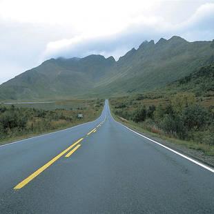Verlaten autoweg
