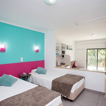 Voorbeeld slaapkamer Appartementen Bayside Salgados