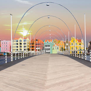 Koningin Emmabrug in Willemstad op Curaçao