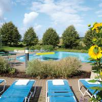 Buitenzwembad met ligweide