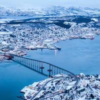 Tromsø overzicht vanuit de lucht
