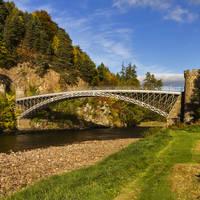 Speyside - Craigellachie brug over de rivier de Spey