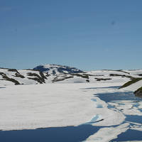 Wegnummer 13 ten noorden van Myrkdalen