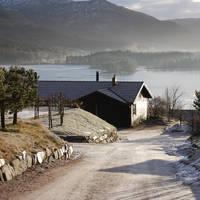 Cabin met Nissermeer op de achtergrond