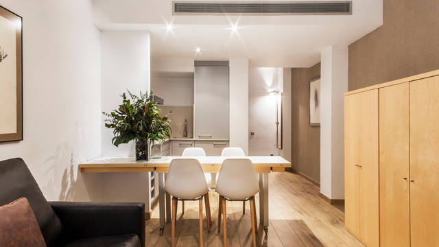 Woonkamer Appartementen Aramunt Barcelona