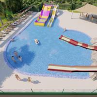 Artist impressie nieuw zwembad