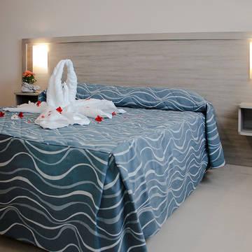 Voorbeeld slaapkamer appartement Danaide Resort